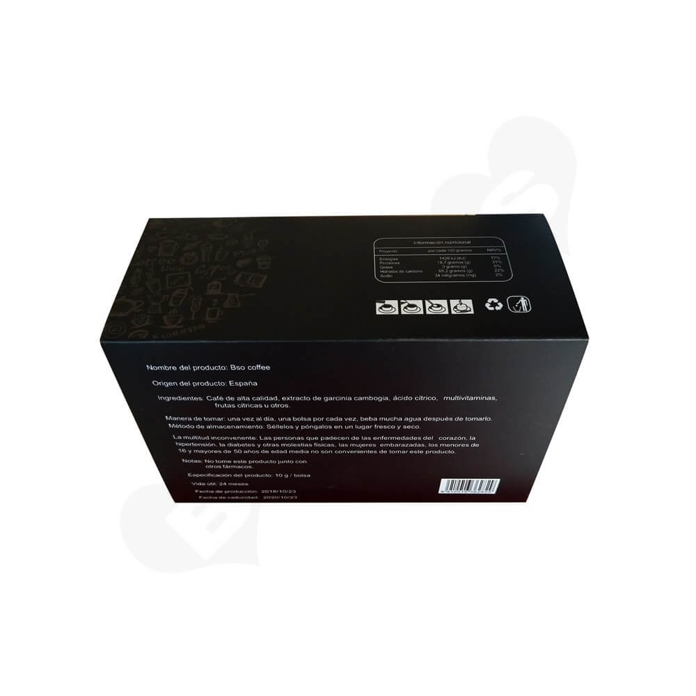 CMYK Printed Sliding Box For Coffee Powder Side View Five