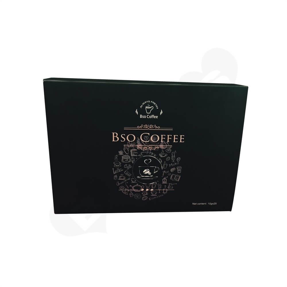 CMYK Printed Sliding Box For Coffee Powder Side View Four