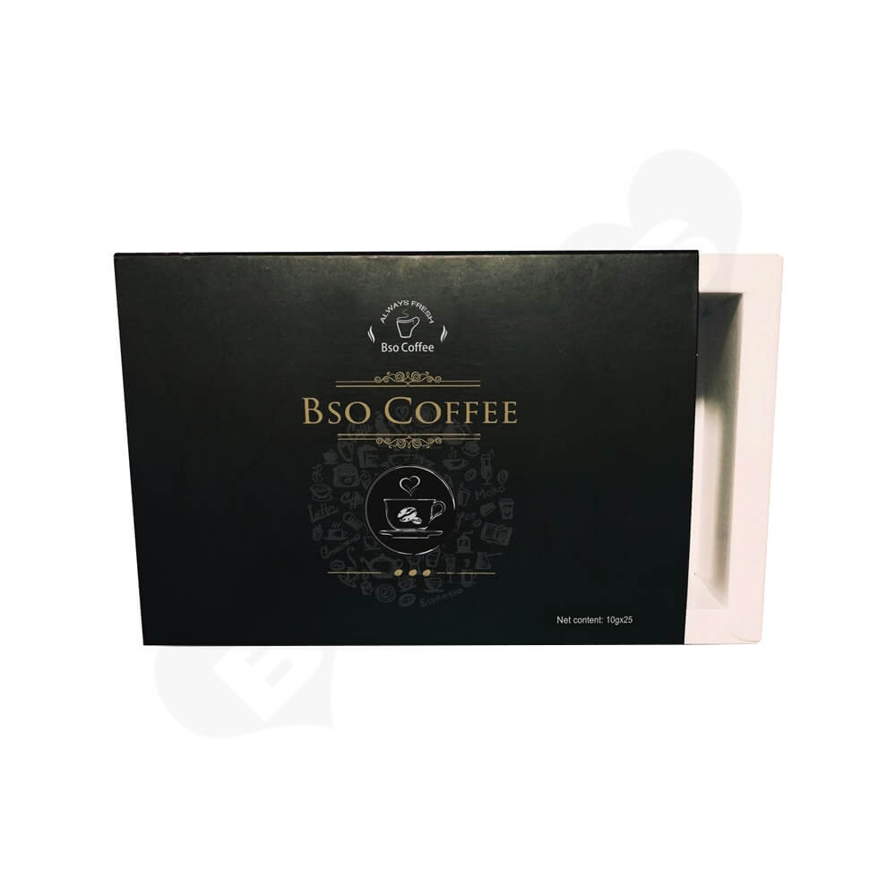 CMYK Printed Sliding Box For Coffee Powder Side View One