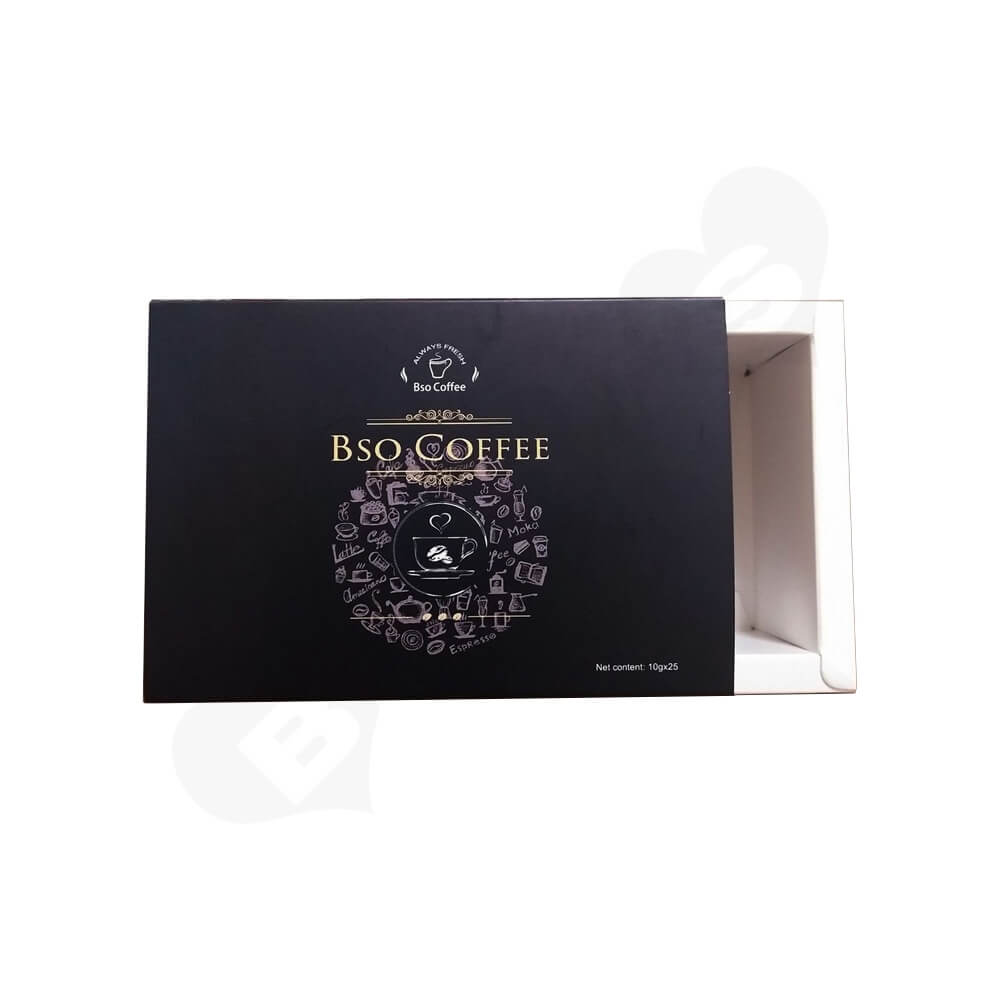 CMYK Printed Sliding Box For Coffee Powder Side View Three