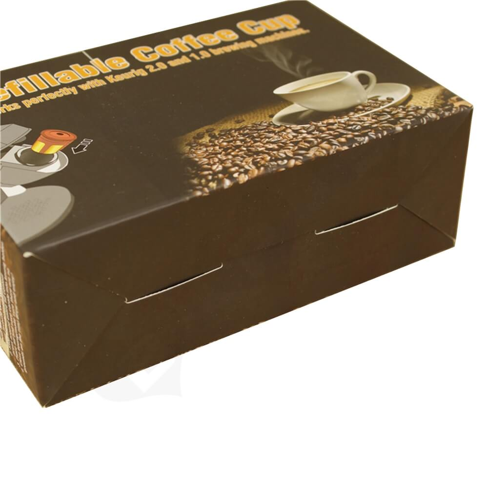Cardboard Folding Carton For Refillable Coffee Cup Side View Four