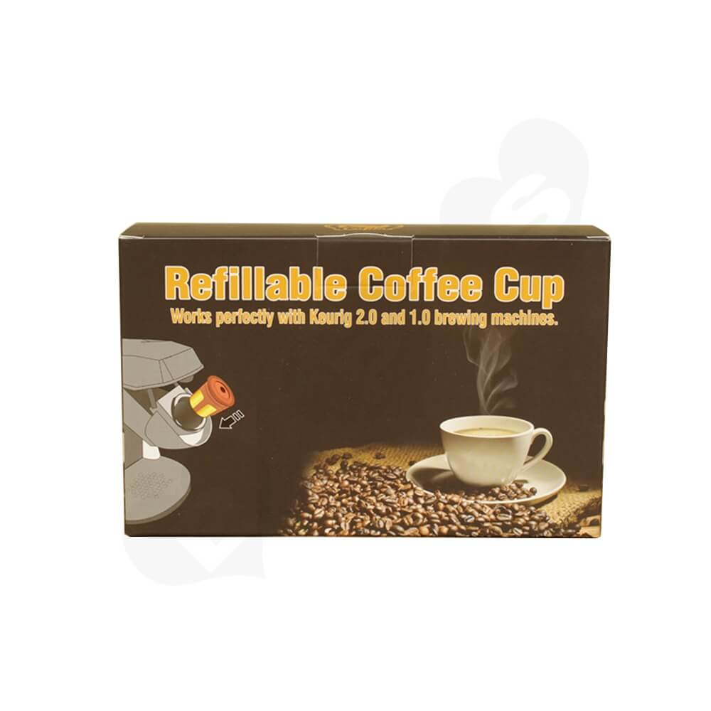 Cardboard Folding Carton For Refillable Coffee Cup Side View One