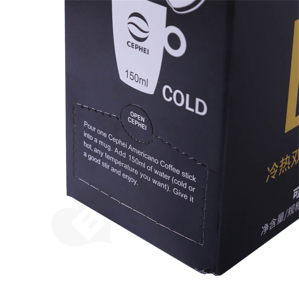 Corrugated Cardboard Box With Handle For Coffee Powder Side View Five