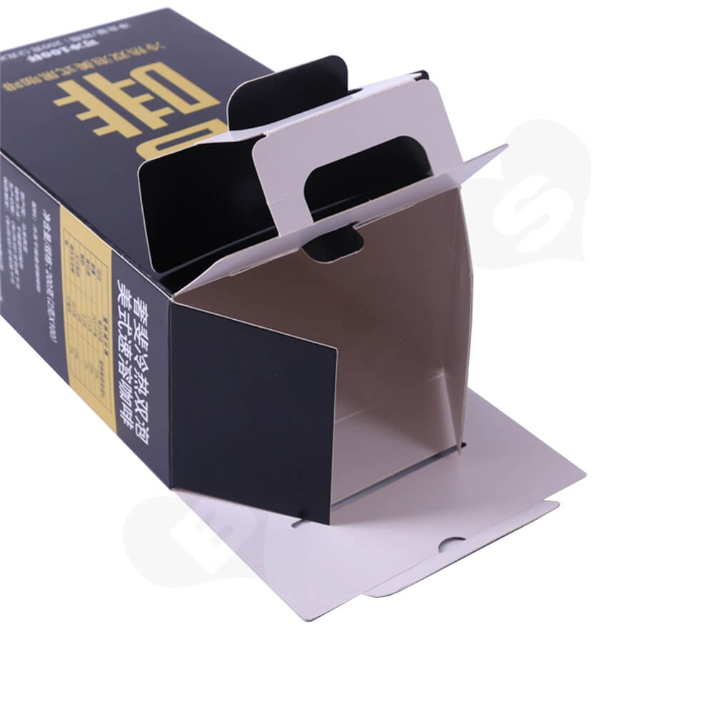 Corrugated Cardboard Box With Handle For Coffee Powder Side View Four