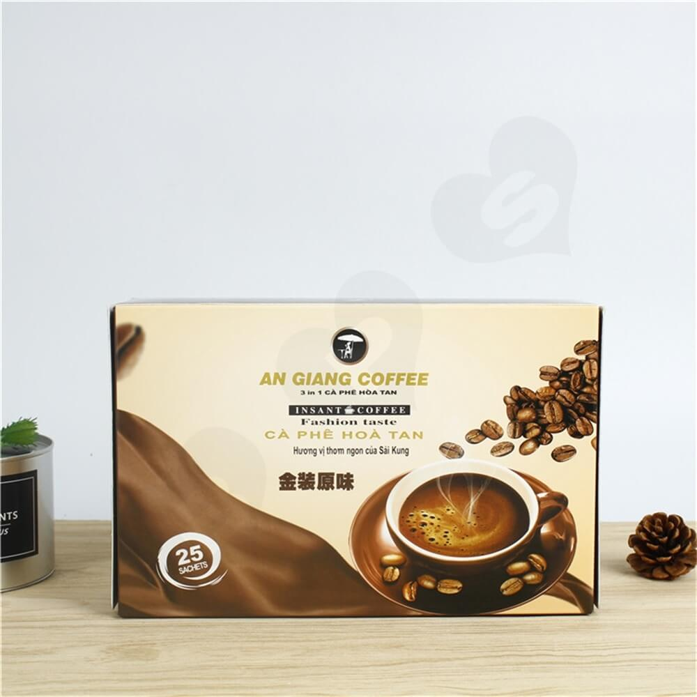 Custom Branded Paper Box For Coffee Powder Side View Five