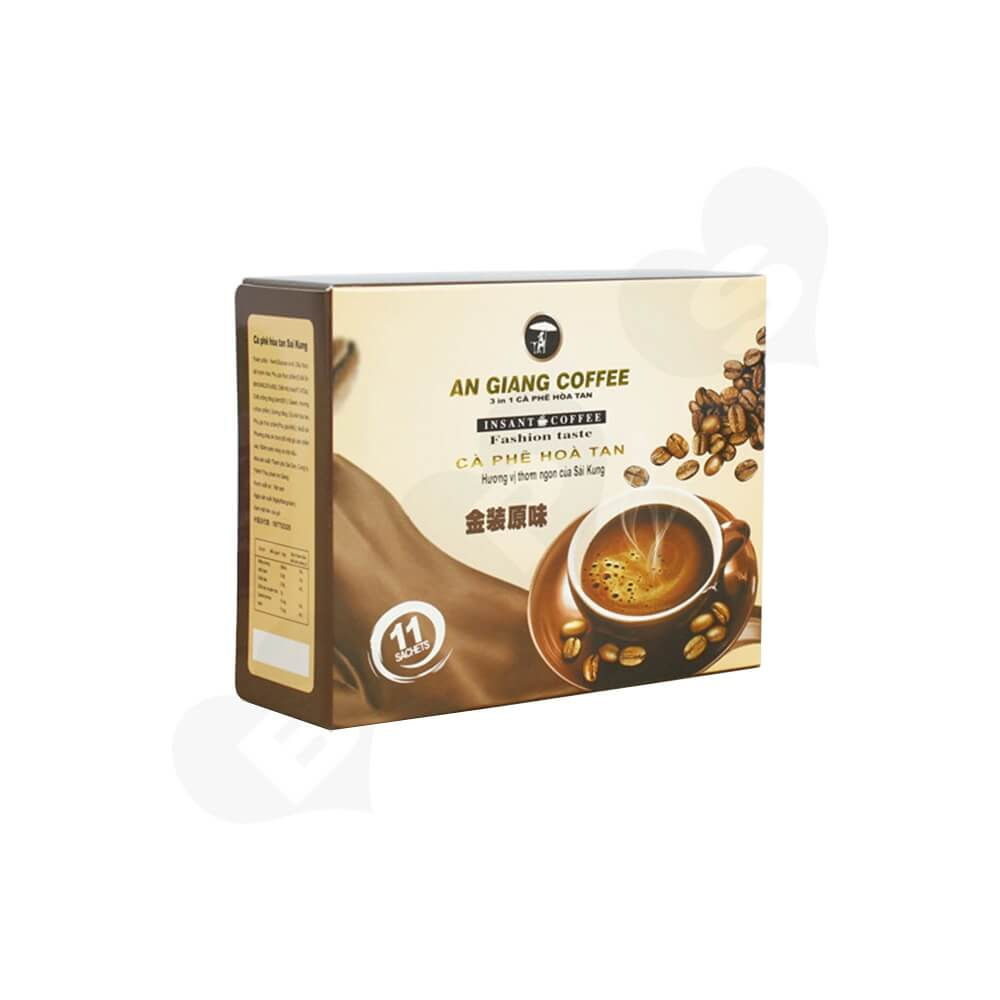 Custom Branded Paper Box For Coffee Powder Side View One