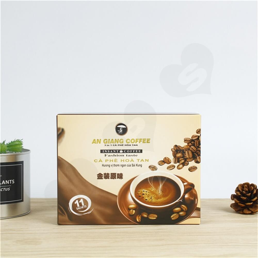 Custom Branded Paper Box For Coffee Powder Side View Six