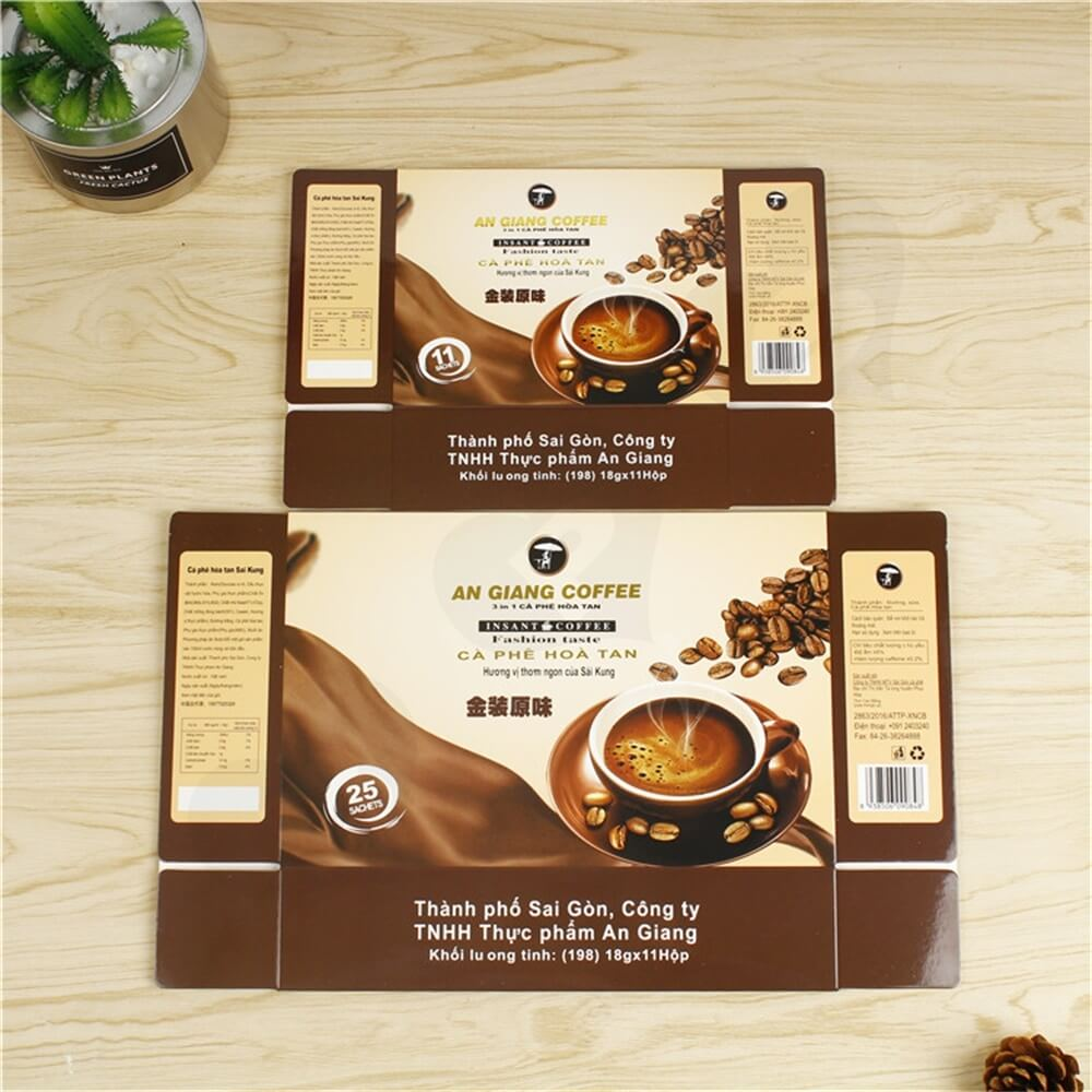 Custom Branded Paper Box For Coffee Powder Side View Three