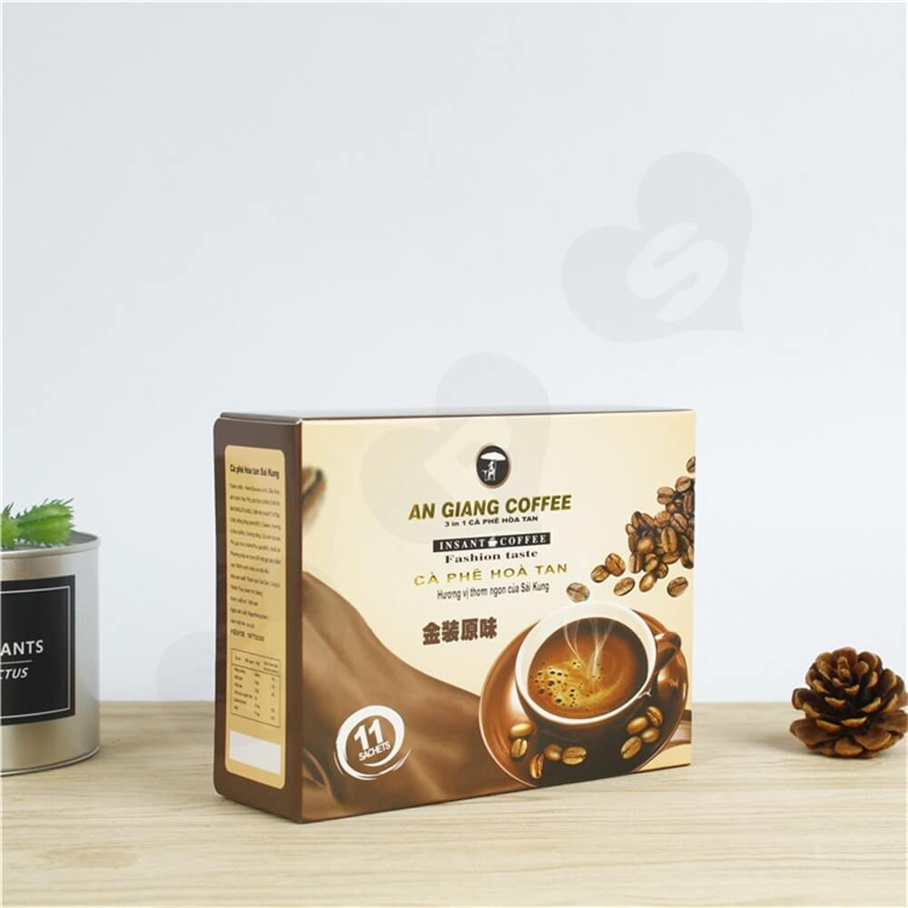 Custom Branded Paper Box For Coffee Powder Side View Two