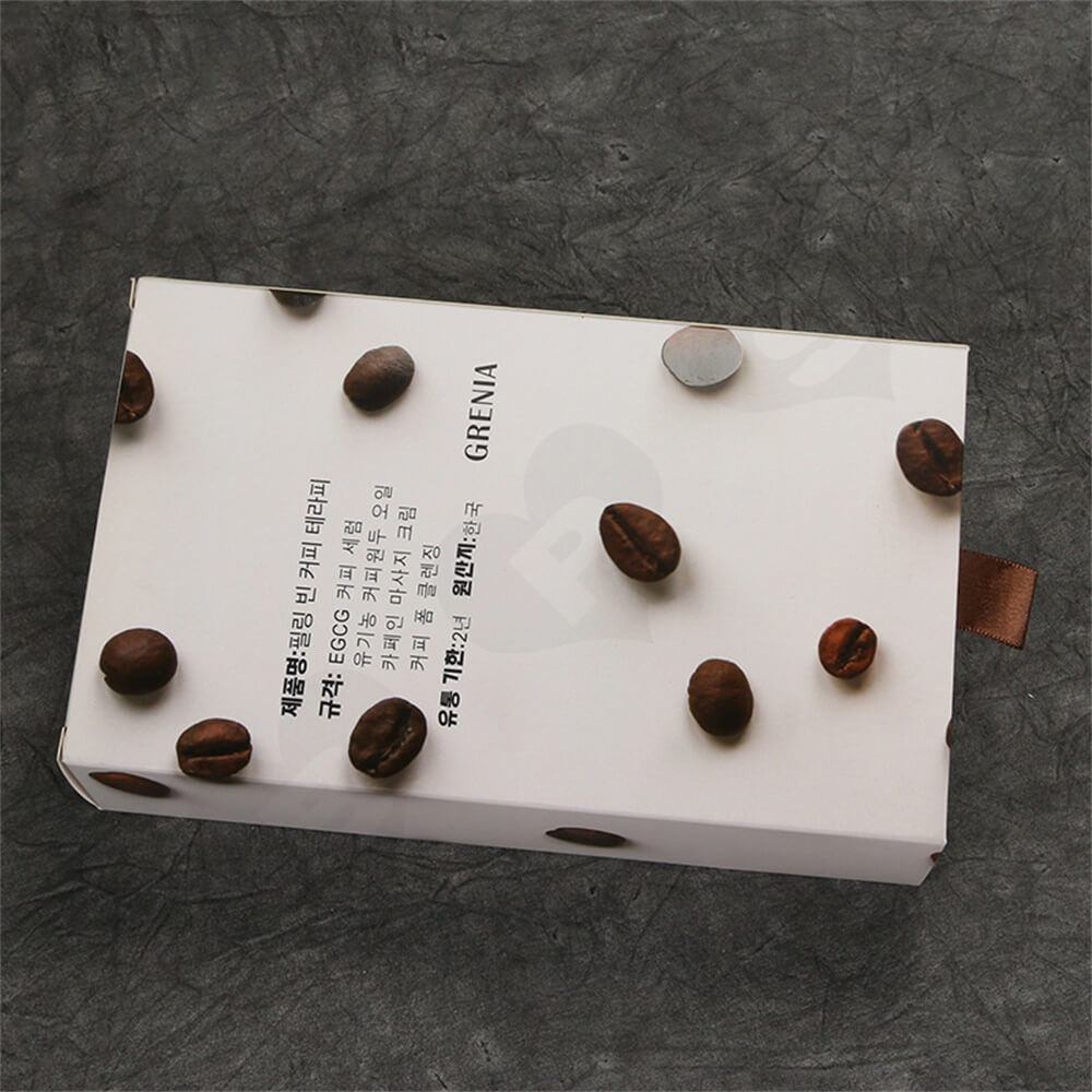 Custom Cardboard Drawer Box Carton For Coffee Beans Side View Five