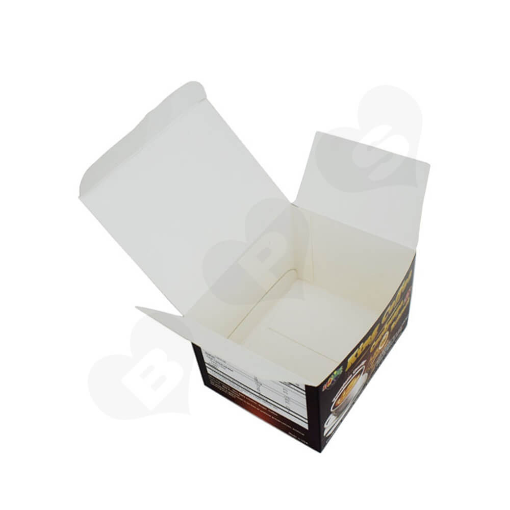 Custom Folding Box For Instant Coffee Powder Side View Four