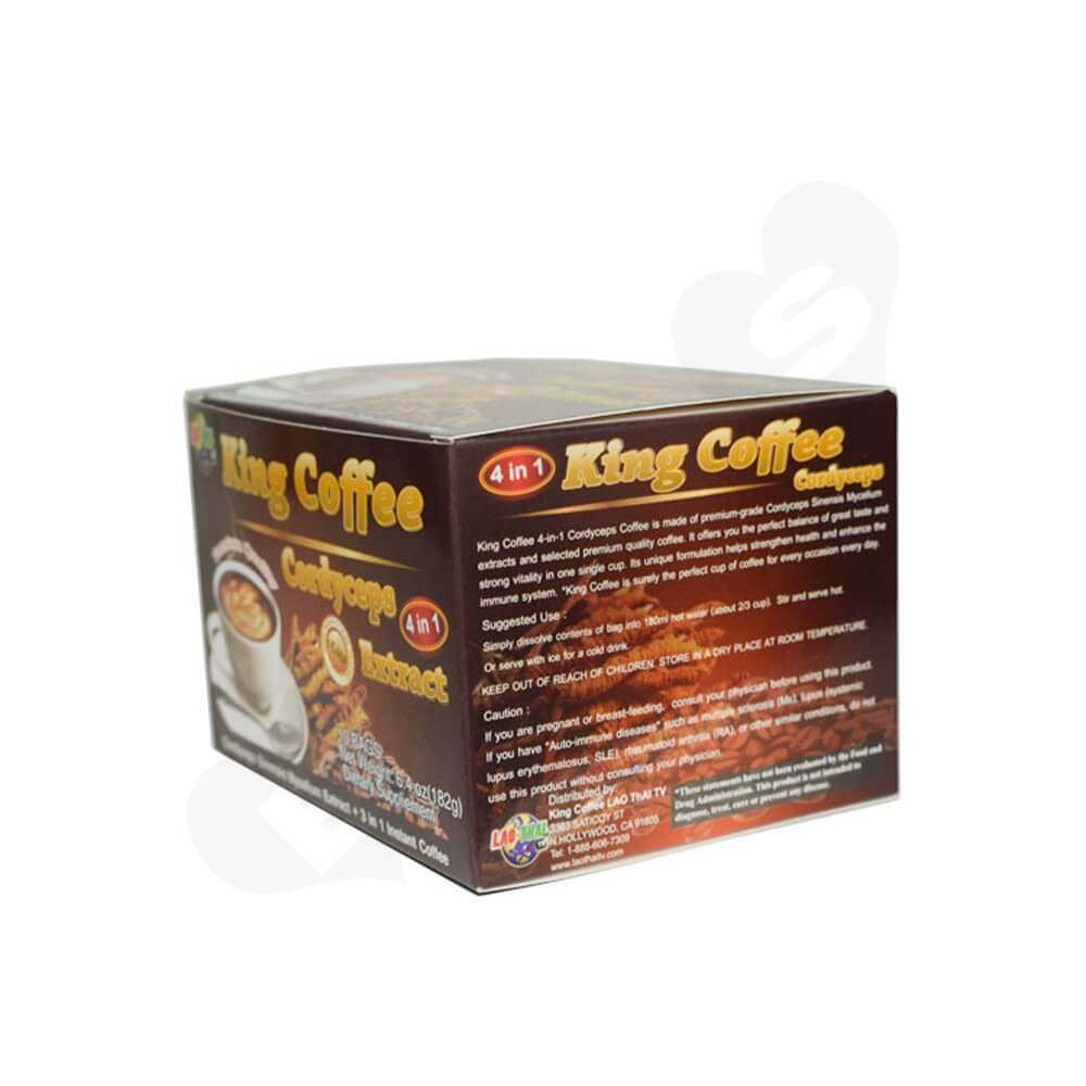 Custom Folding Box For Instant Coffee Powder Side View Three