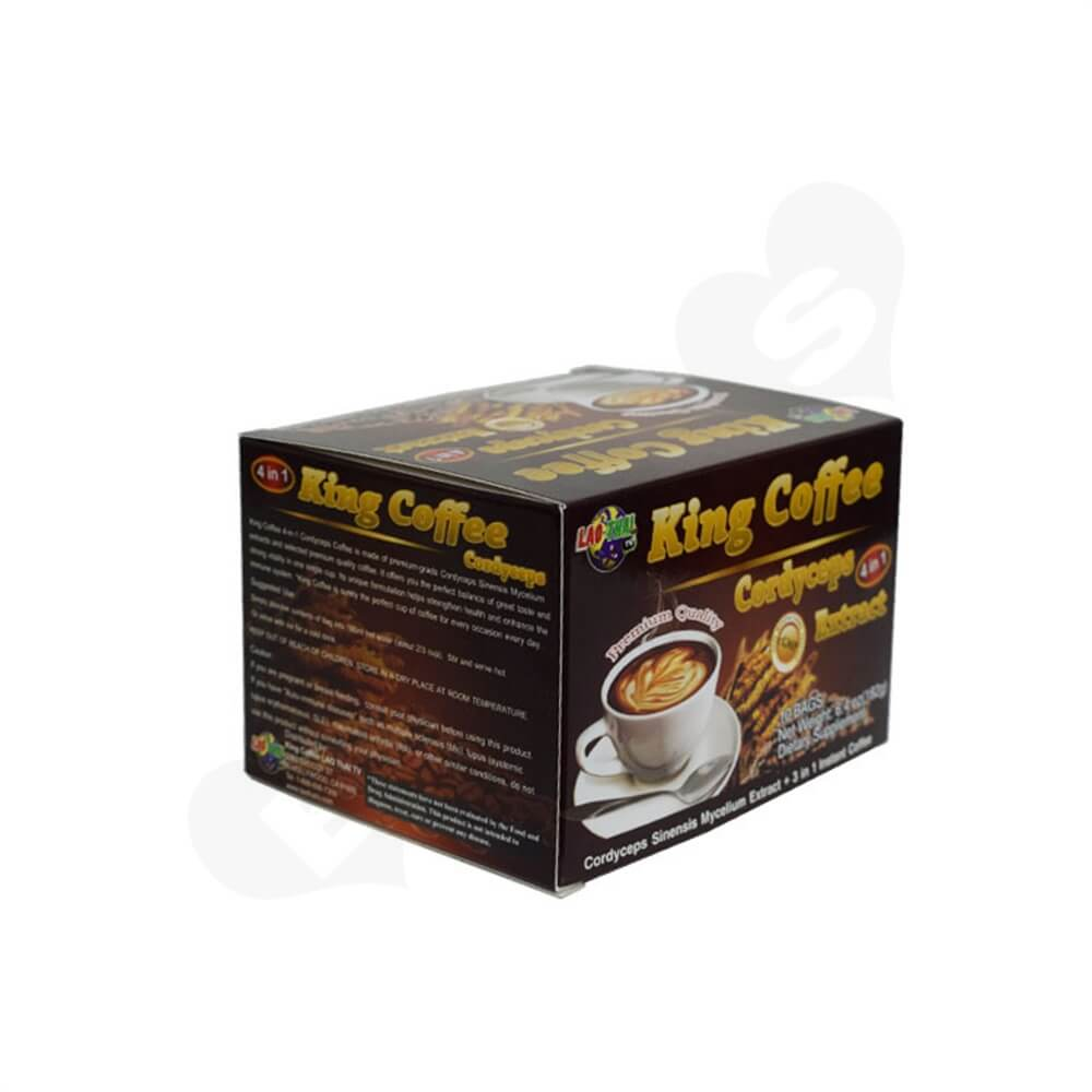 Custom Folding Box For Instant Coffee Powder Side View Two