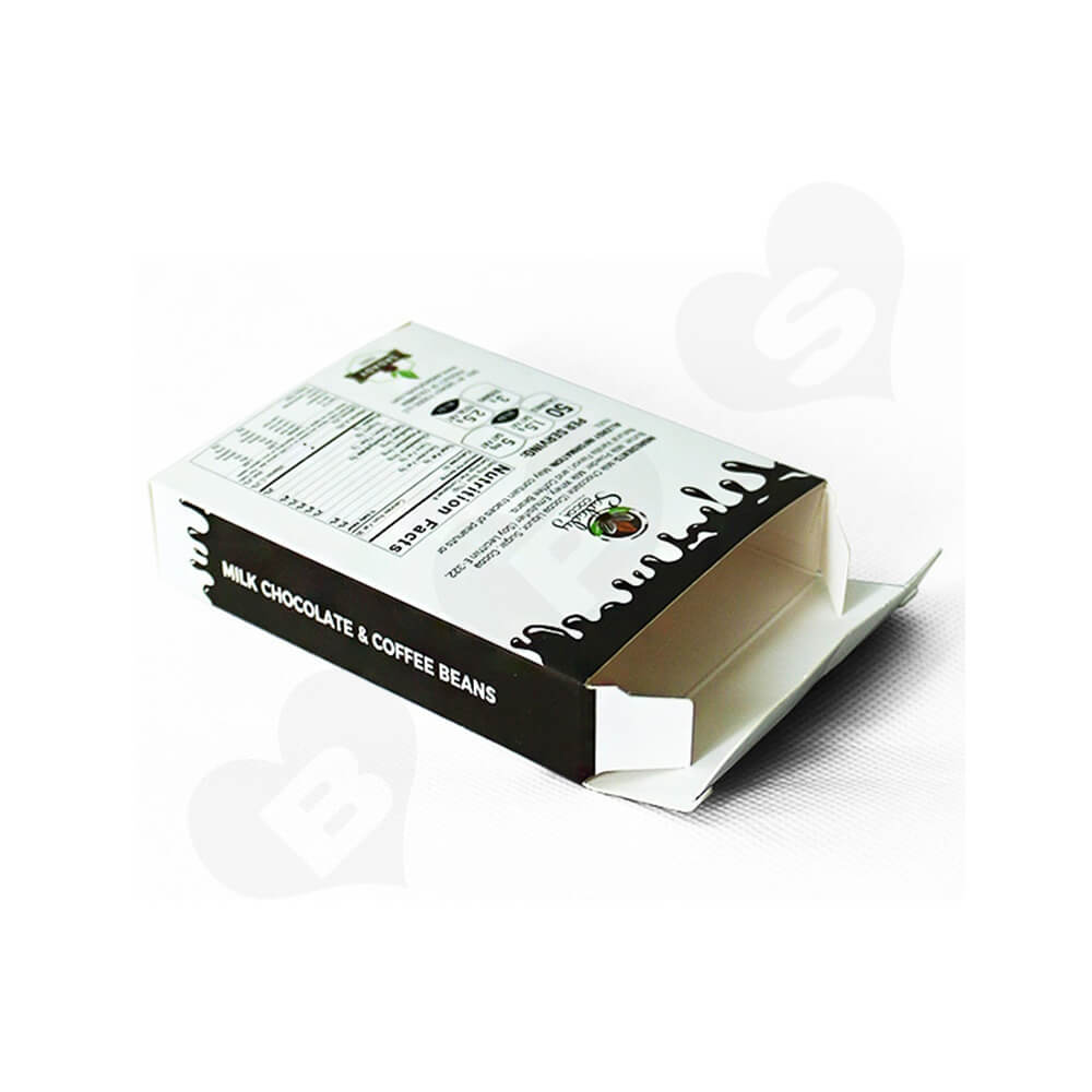 Custom Folding Carton Box For Milk Coffee Bean Side View Three