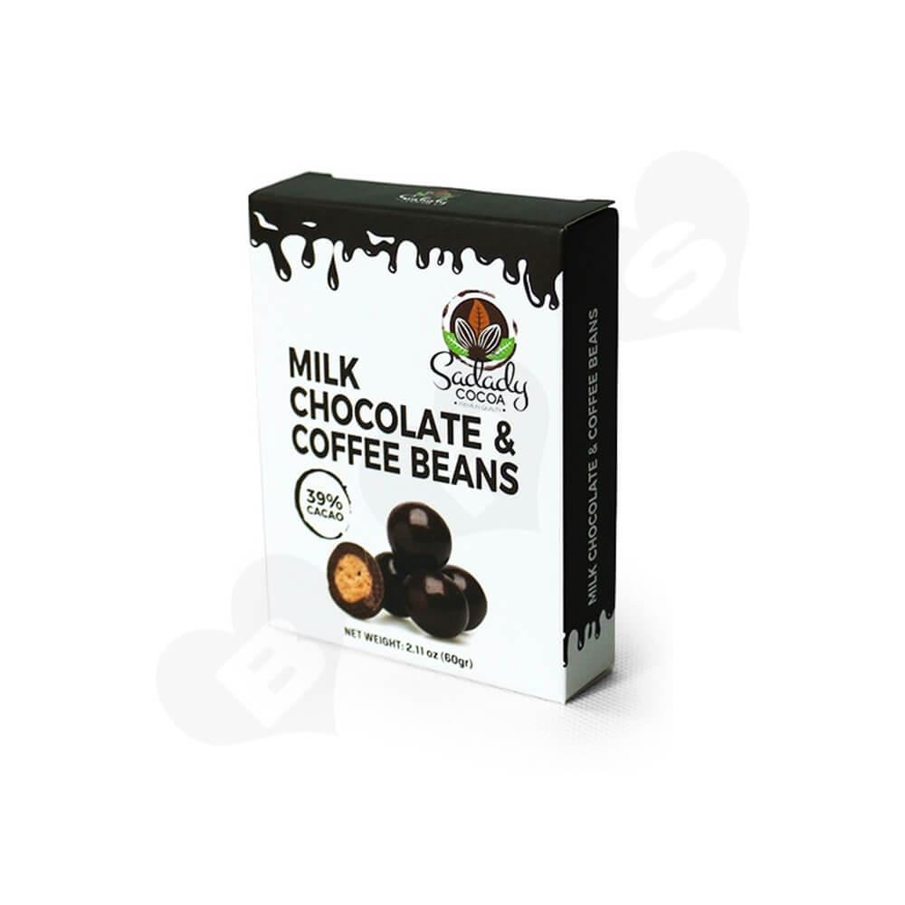 Custom Folding Carton Box For Milk Coffee Bean Side View Two