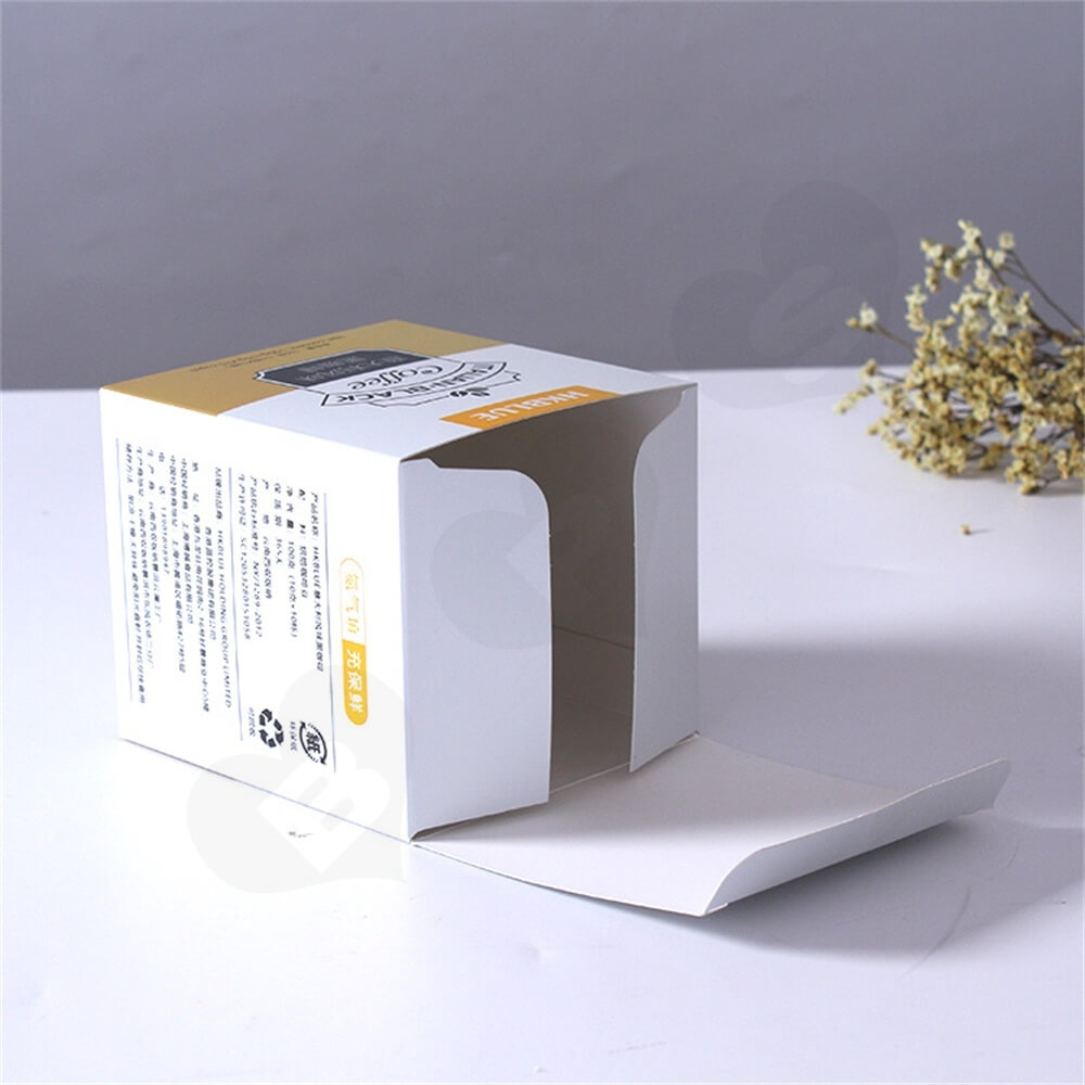 Custom Folding Carton For Italian Coffee Powder Side View Four