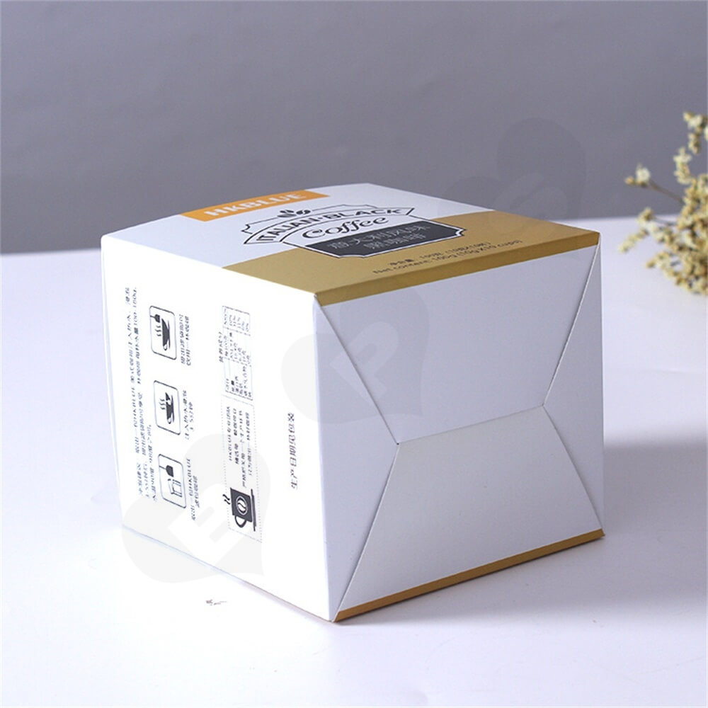Custom Folding Carton For Italian Coffee Powder Side View Two