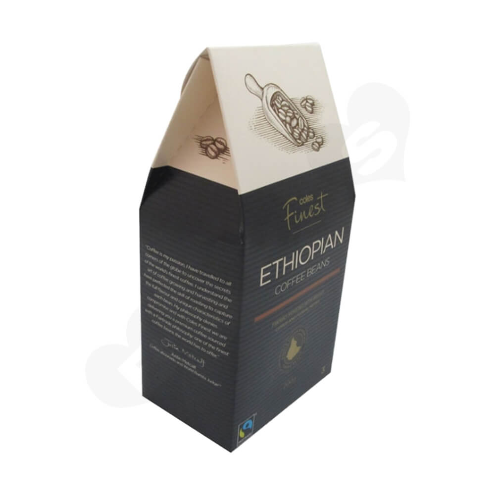 Custom Gable Top Box For Coffee Beans Side View Five