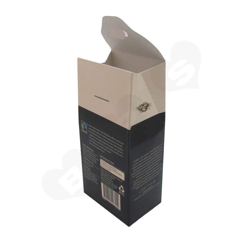 Custom Gable Top Box For Coffee Beans Side View Three