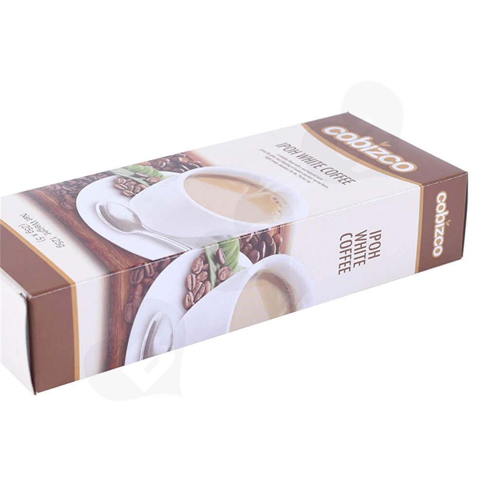 Custom Paper Carton For White Coffee Powder Side View Four