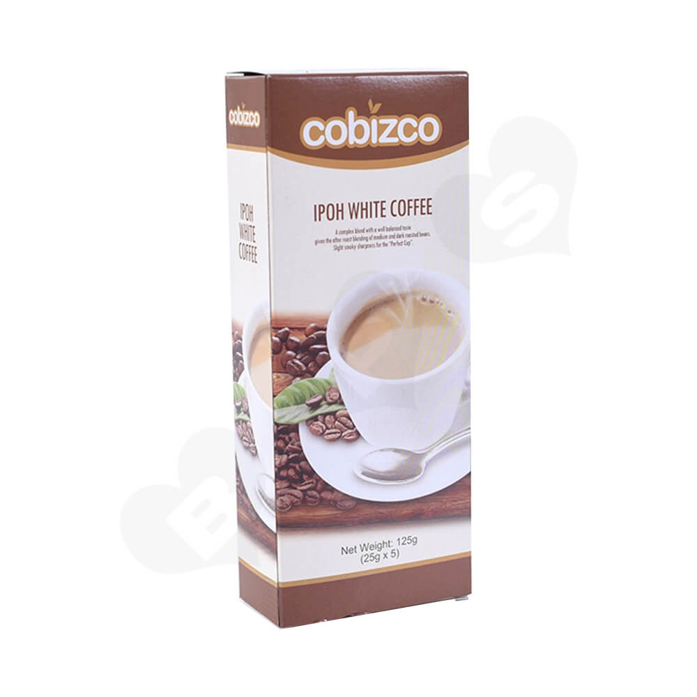 Custom Paper Carton For White Coffee Powder Side View One
