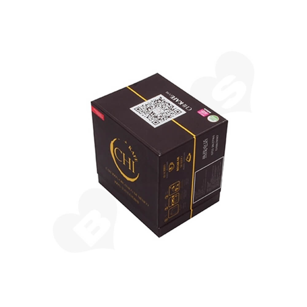Custom Printed Cardboard Box For Organic Coffee Powder Side View Two