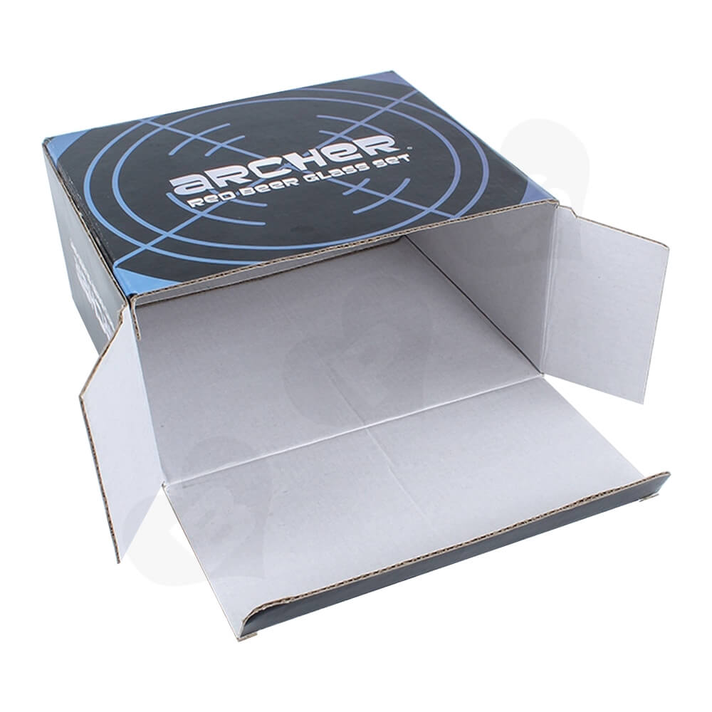 Custom Printed Folding Carton For Coffee Cup Side View Four