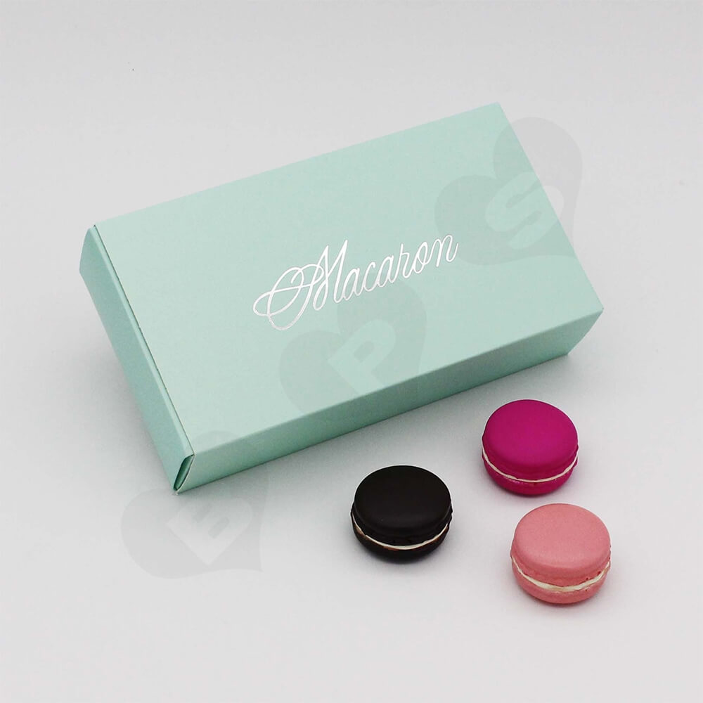 Custom Printed Paper Box For Twelve Pieces Macarons Side View Four
