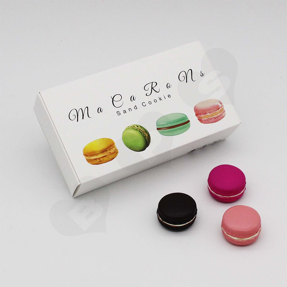 Custom Printed Paper Box For Twelve Pieces Macarons Side View Six
