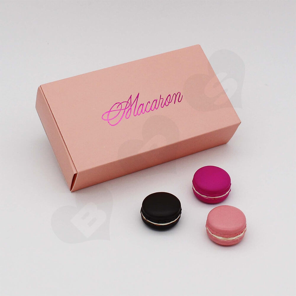 Custom Printed Paper Box For Twelve Pieces Macarons Side View Three