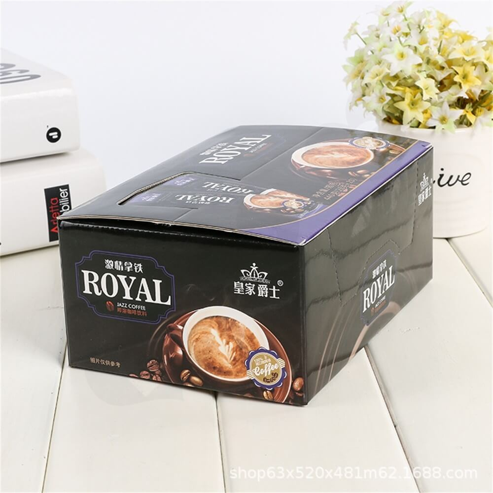 Custom Printed Retail Box For Coffee Powder Side View Five