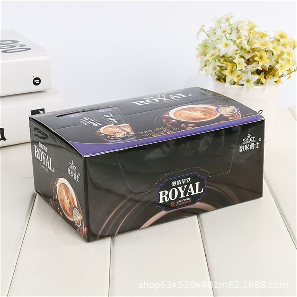 Custom Printed Retail Box For Coffee Powder Side View Four