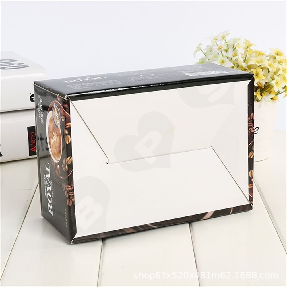 Custom Printed Retail Box For Coffee Powder Side View Three