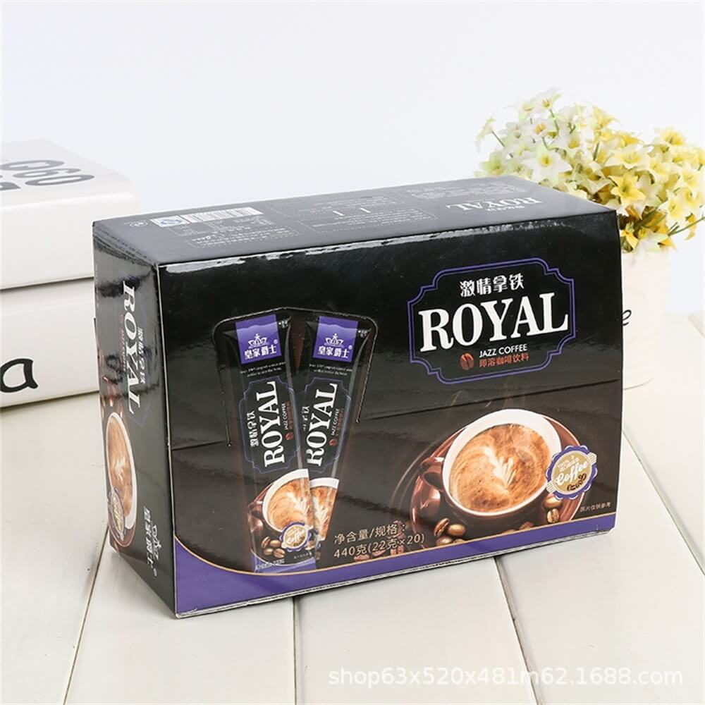Custom Printed Retail Box For Coffee Powder Side View Two