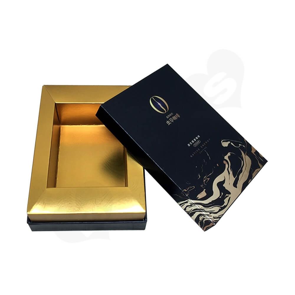 Custom Rigid Neck Gift Box For Coffee Powder Side View Two