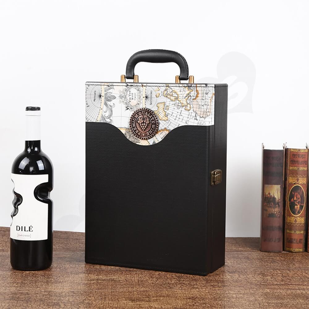 Customized Color Printing Wine Box Kit Side View Three