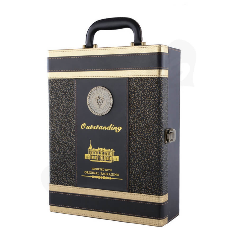 Customized Color Printing Wine Box Kit Side View Two