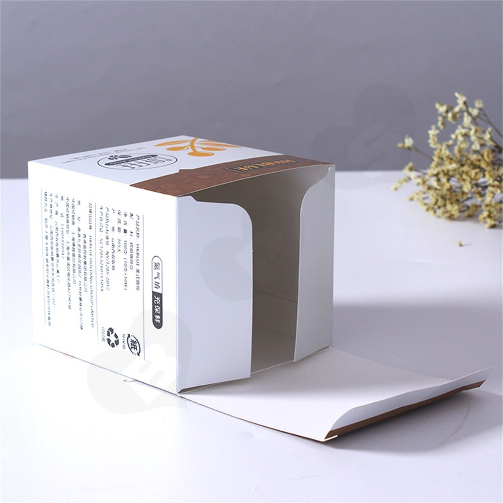 Customized Folding Carton For Americano Coffee Powder Side View Five