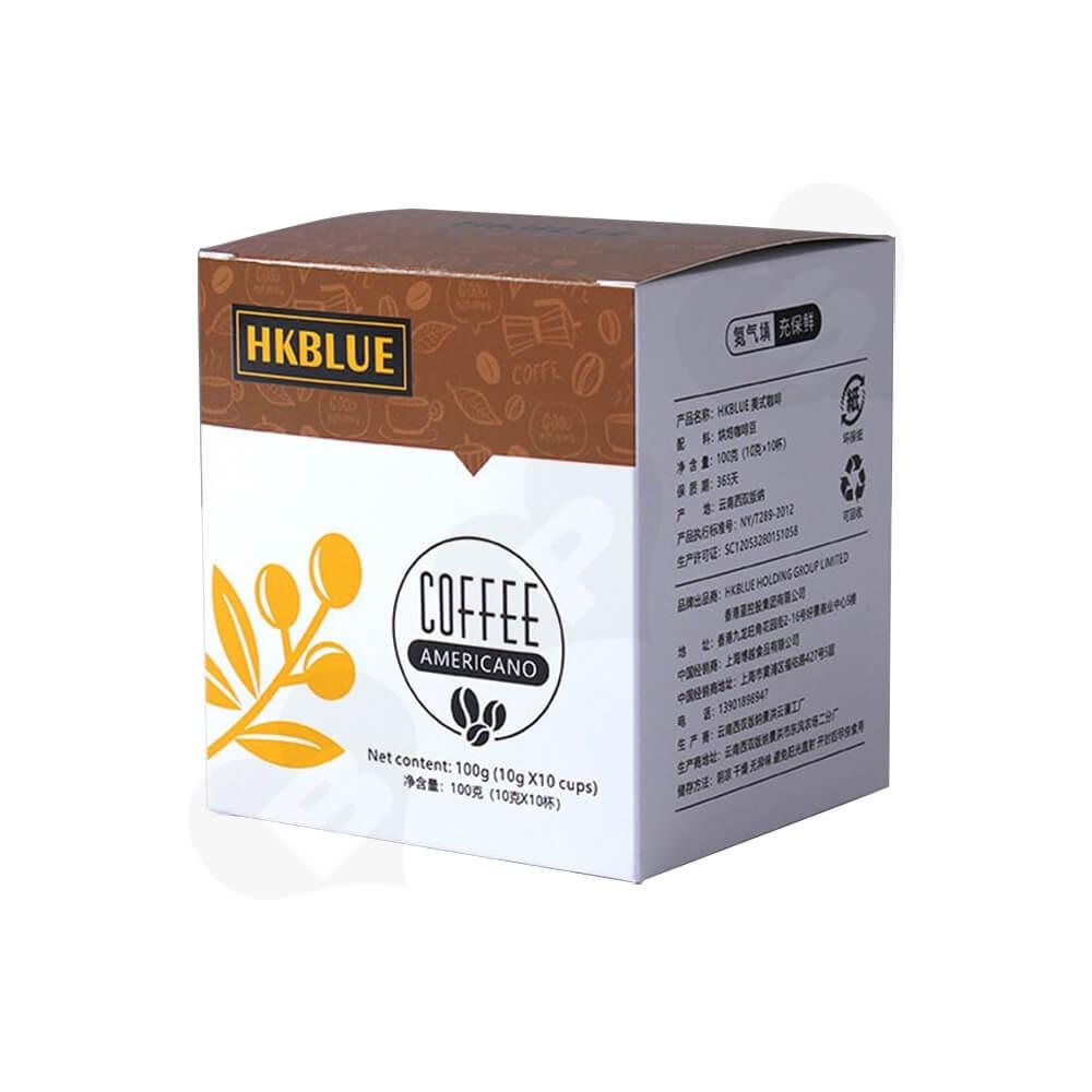 Customized Folding Carton For Americano Coffee Powder Side View One