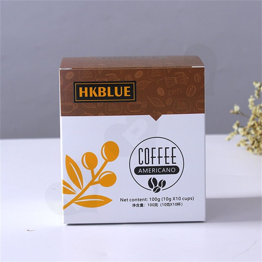 Customized Folding Carton For Americano Coffee Powder Side View Six