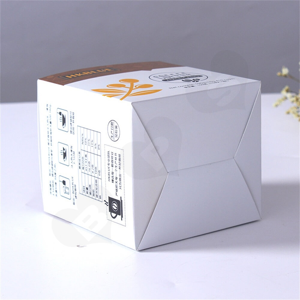 Customized Folding Carton For Americano Coffee Powder Side View Three