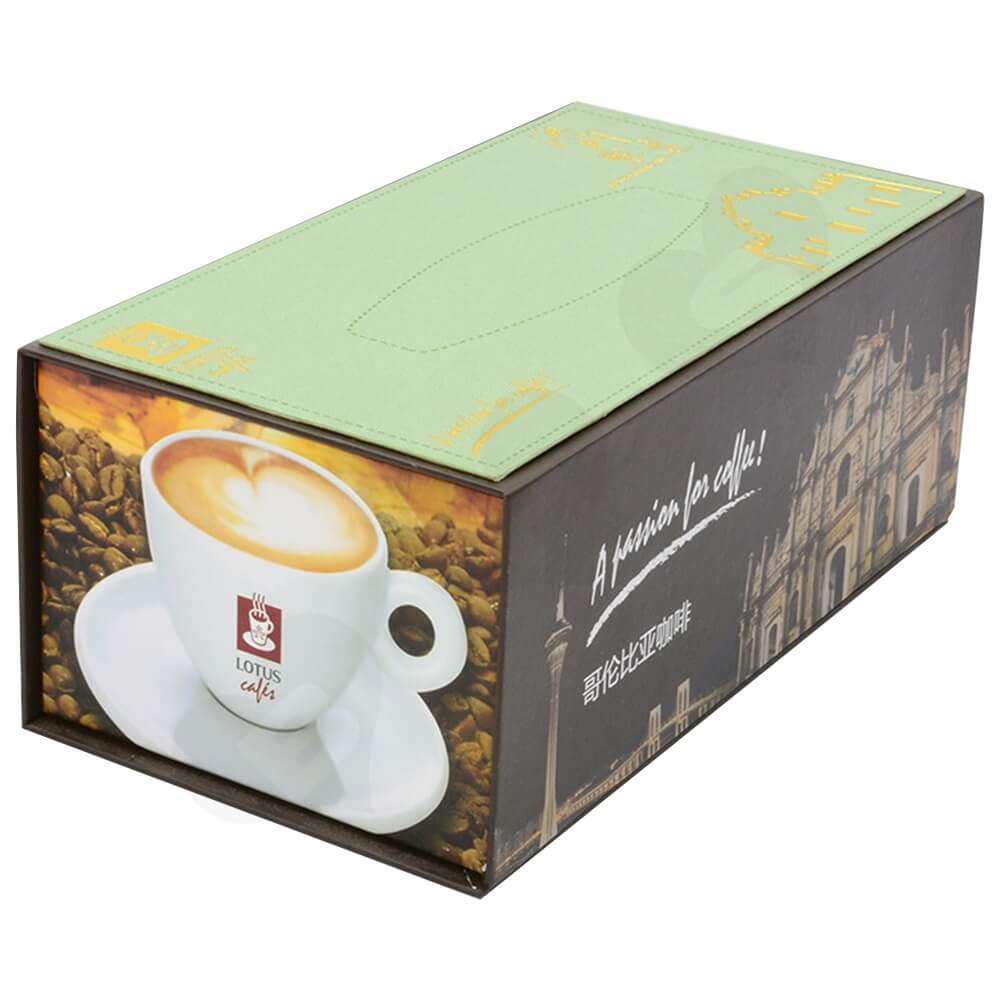 Customized Magnetic Closure Gift Box For Coffee Set Side View Four