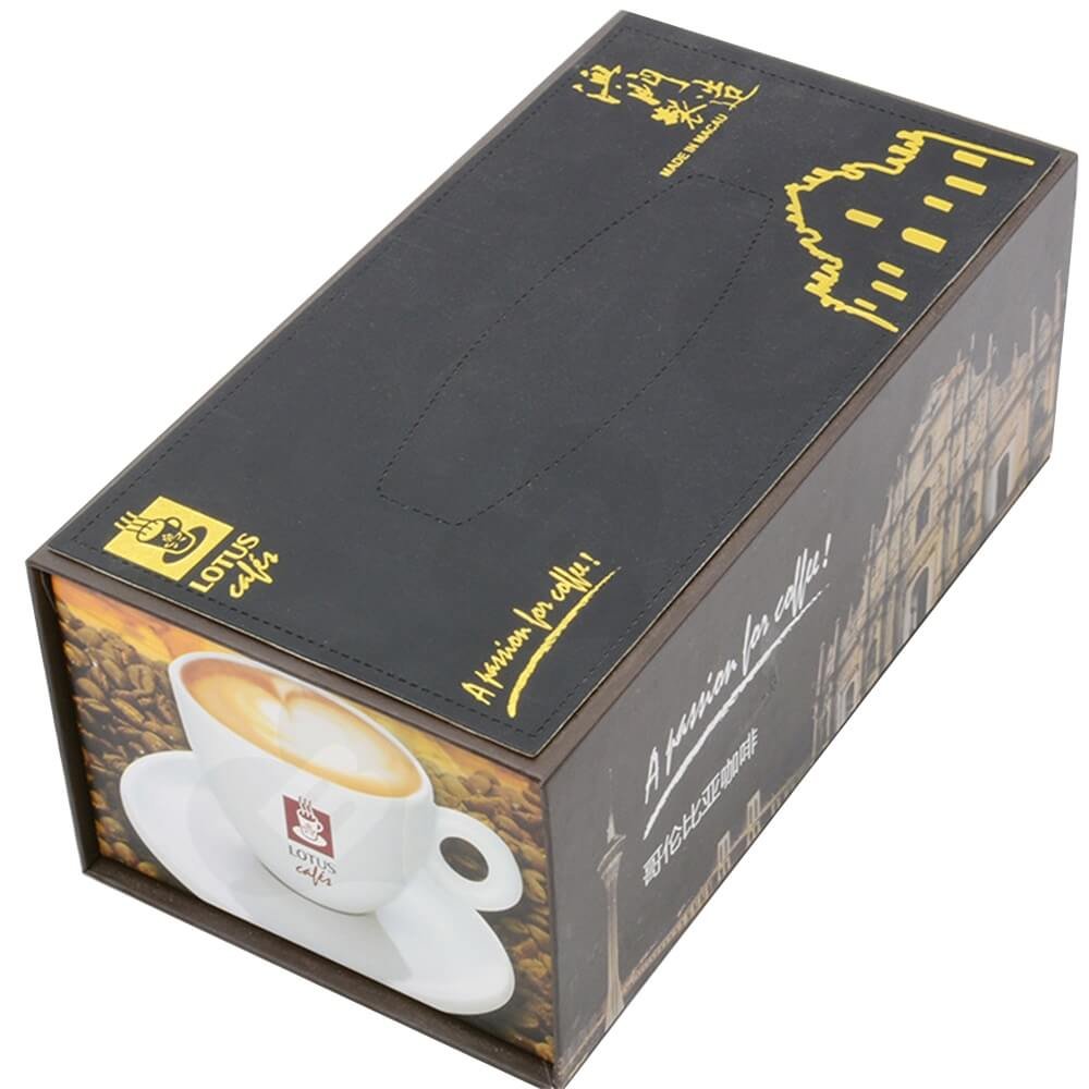 Customized Magnetic Closure Gift Box For Coffee Set Side View Three