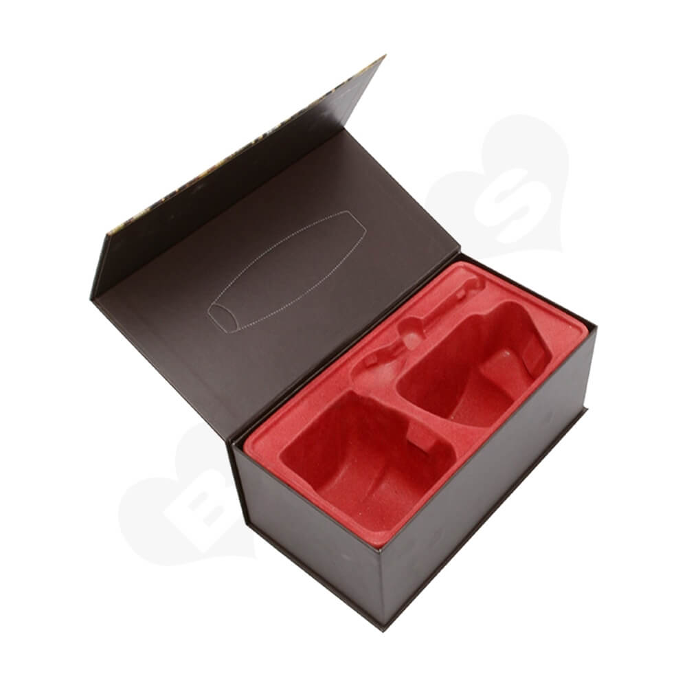 Customized Magnetic Closure Gift Box For Coffee Set Side View Two