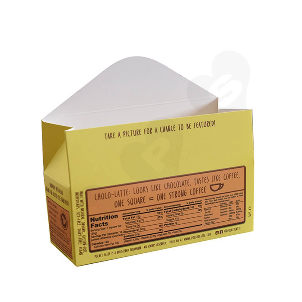 Gable Top Folding Carton For Coffee Bars Side View Five