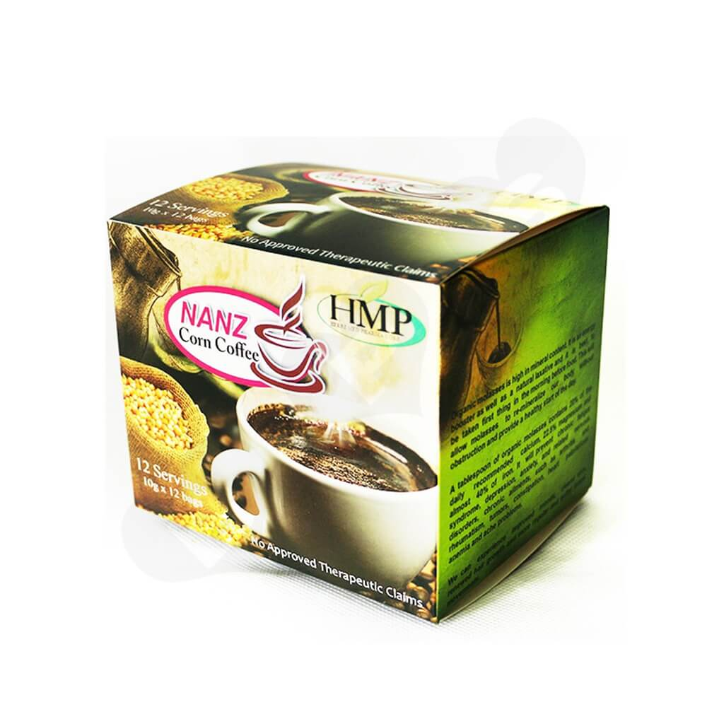 Gloss Printed Folding Carton For Coffee Powder Bar Side View One