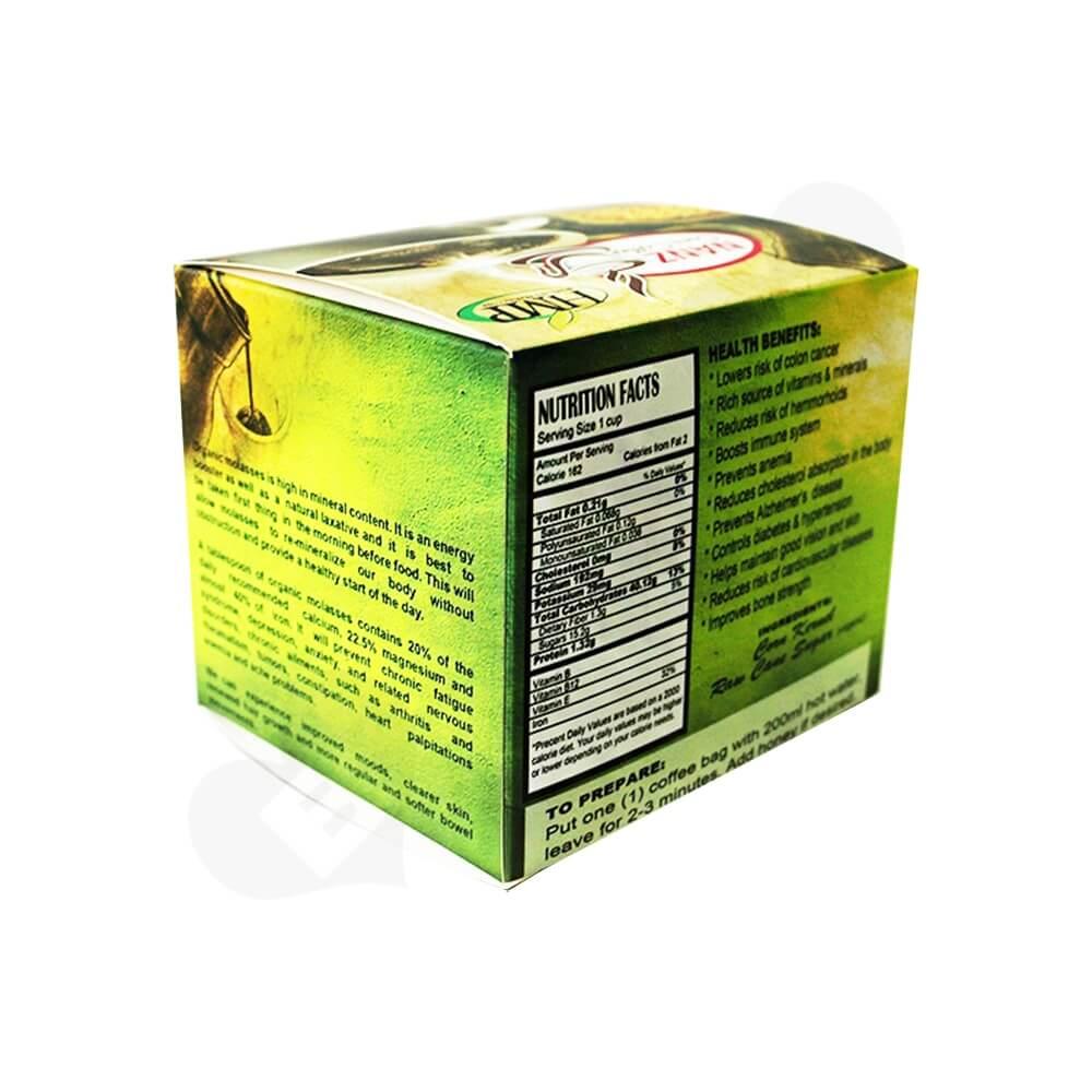 Gloss Printed Folding Carton For Coffee Powder Bar Side View Three