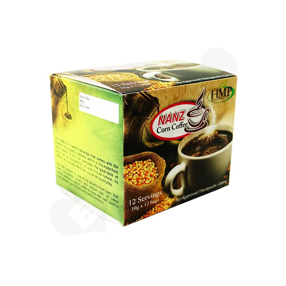 Gloss Printed Folding Carton For Coffee Powder Bar Side View Two