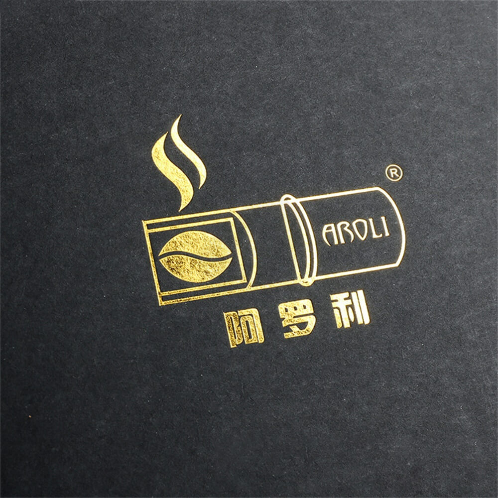 Gold Foil Stamping Cardboard Box Sleeve For Coffee Side View Five