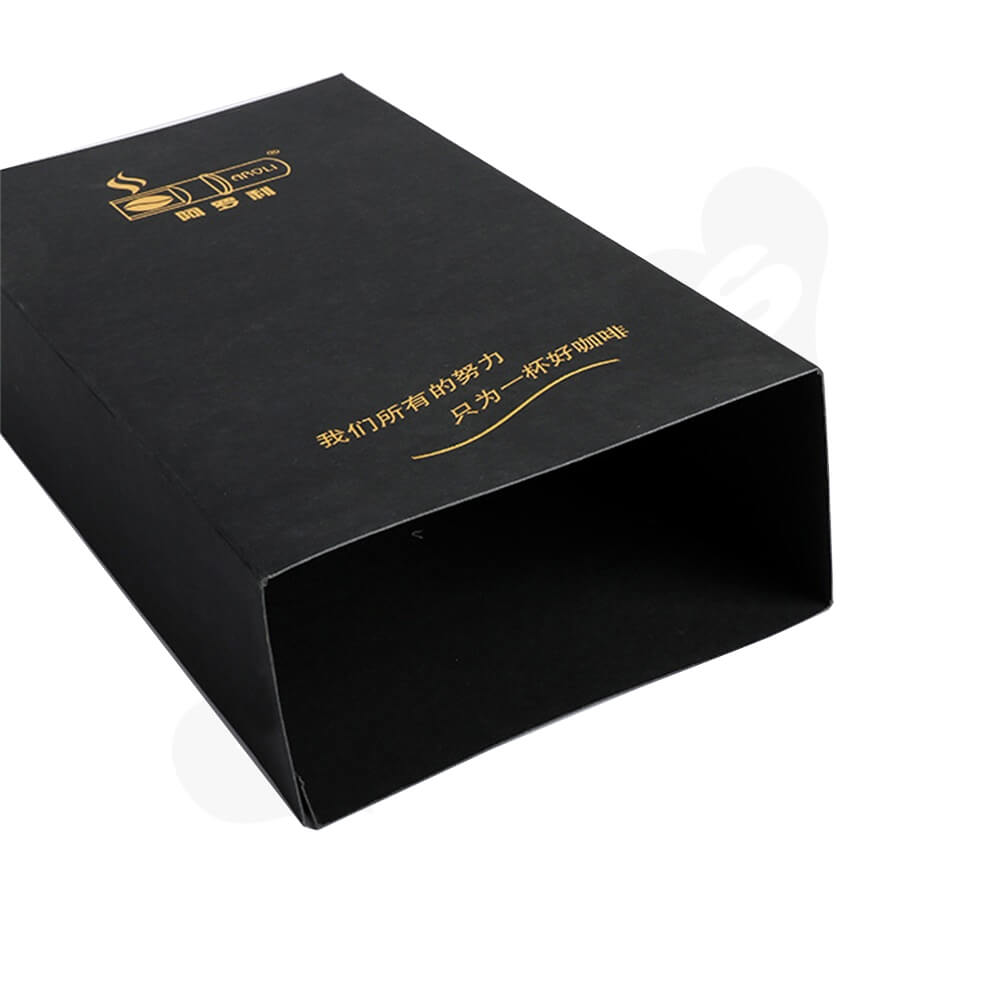 Gold Foil Stamping Cardboard Box Sleeve For Coffee Side View Four